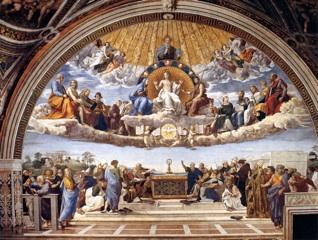 Disputa dell'Eucarestia di Raffaello (Città del Vaticano, Musei Vaticani, stanza della Segnatura)