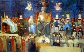 """""""Allegoria del Buon Governo"""", Ambrogio Lorenzetti, Palazzo Pubblico, Siena, 1337-1339"""