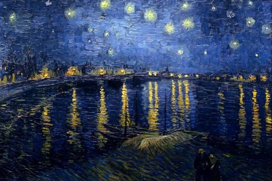 """""""Notte stellata sul Rodano"""" di Vincent Van Gogh"""