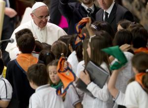 Papa Francesco in udienza speciale con gli studenti delle scuole dei Gesuiti