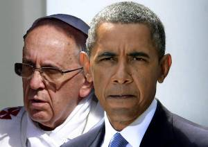 COMBO Barack Obama - Papa Francesco