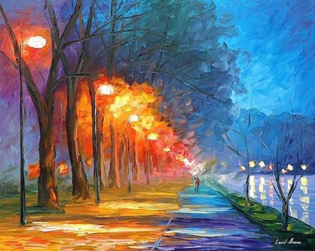 dipinti-olio-impressionismo-paesaggi-autunno-leonid-afremov-03-700x559
