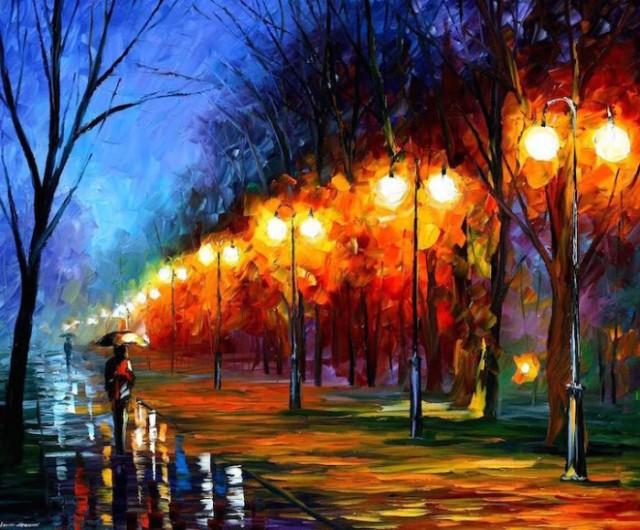 dipinti-olio-impressionismo-paesaggi-autunno-leonid-afremov-04-700x580