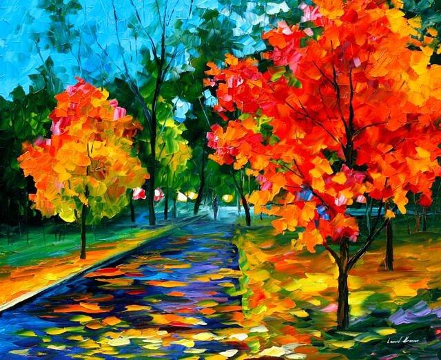 dipinti-olio-impressionismo-paesaggi-autunno-leonid-afremov-07