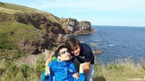 Al mare con il fratello Iacopo